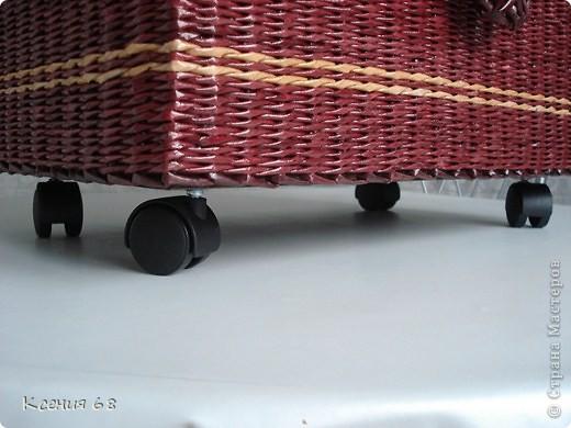 """Мастер-класс Плетение: Сундук на колесах в стиле """"минимализм"""" Бумага газетная Отдых. Фото 5"""