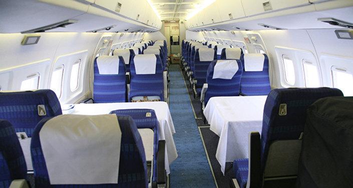 В салоне самолета Ил-114-100. Архивное фото