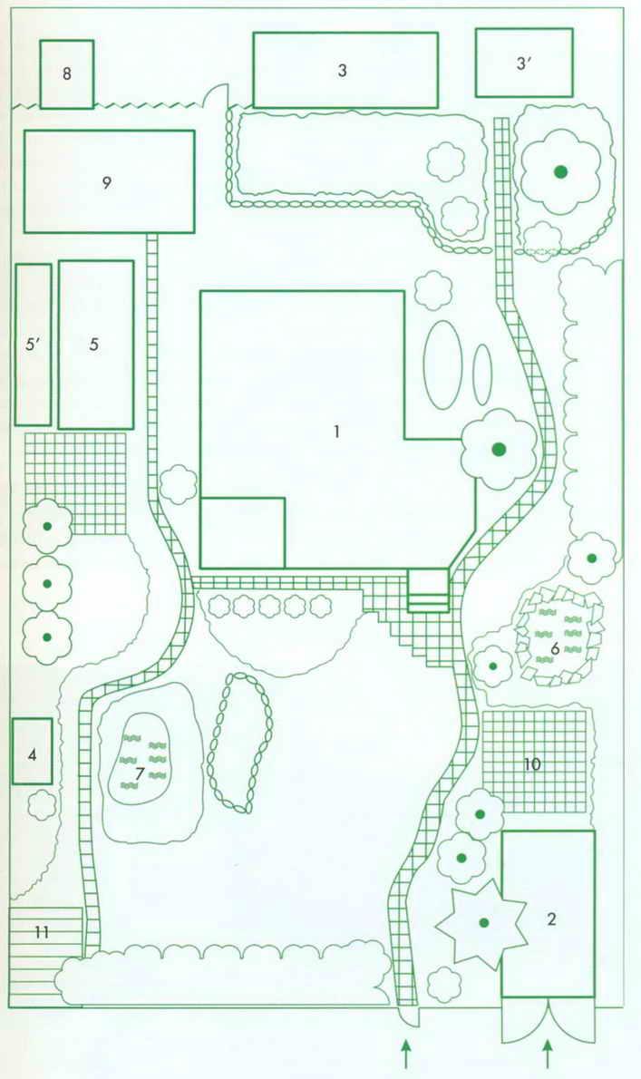планировка дачного участка 14 соток схемы фото