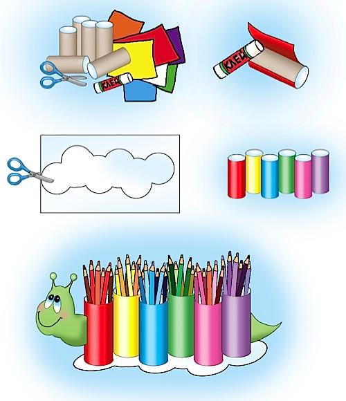 Как сделать из туалетной втулки подставку для карандашей