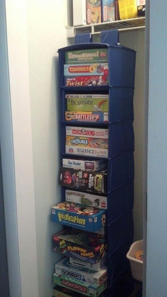 2. Удобное размещение настольных игр вещь, дом, хранение
