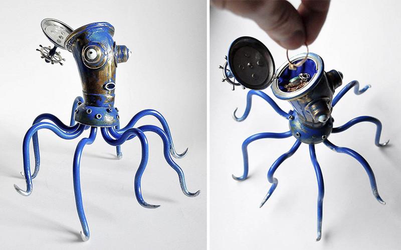 Художник делает из мусора скульптуры в стиле стимпанк