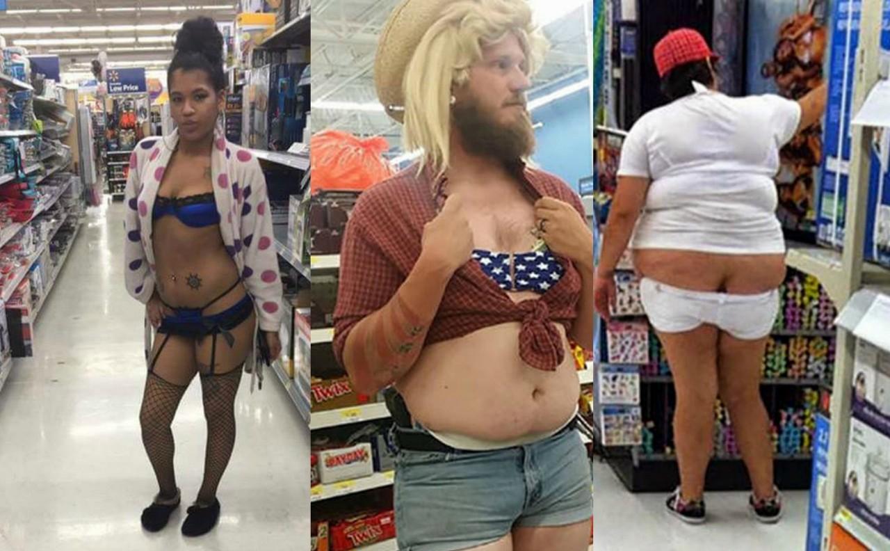 Невменяемые посетители супермаркетов
