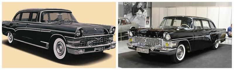 ЗИЛ-111(1959-1967)-ГАЗ-13(1959-1981) автомобили, история, ссср, факты