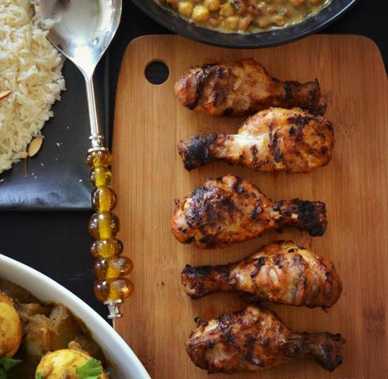 Жареная курица тандури