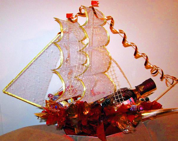 Кораблик подарок своими руками 70
