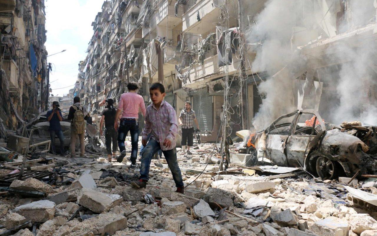 Протурецкие боевики обстреляли город Алеппо
