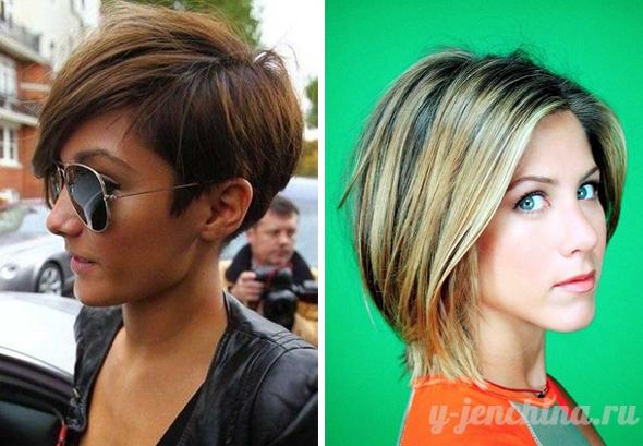 Стрижки на короткие волосы без челки женские