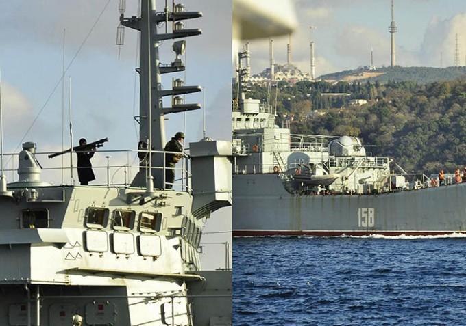 Российский десантный корабль прошел проливы в Турции, грозя ПЗРК