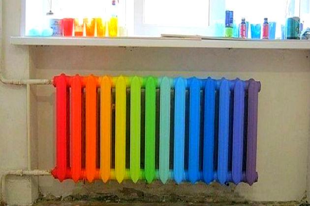 Покраска батареи своими руками фото