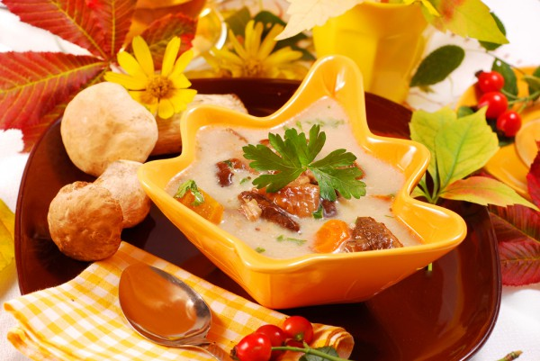 Суп из грибов и риса