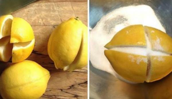 Разрежь 3 лимона и помести и…