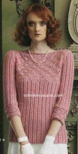 Стильный пуловер от Деборы Ньютон