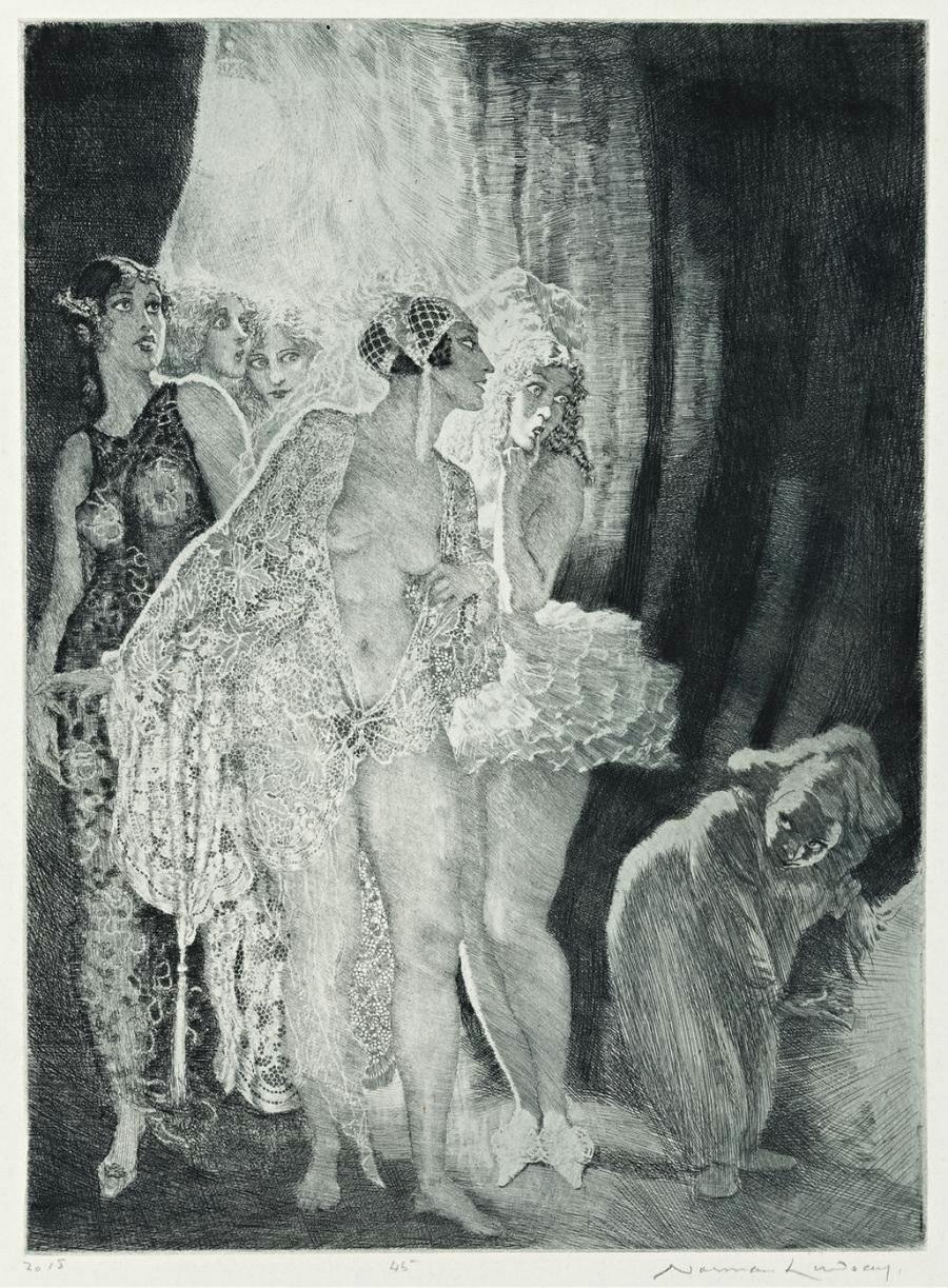 Прелестные нимфы, козлоногие обольстители и демоны в картинах Нормана Линдсея 23
