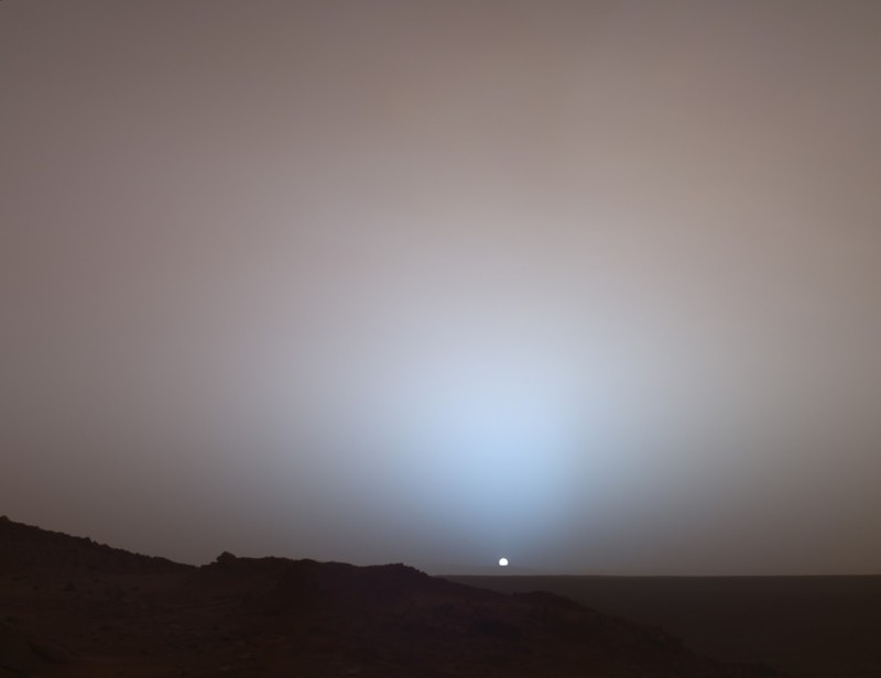 5. Восход солнца на Марсе. наш мир, удивительные фотографии