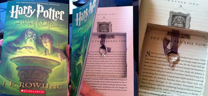 Предложение в книге о Гарри Поттере диза, кольцо, креатив