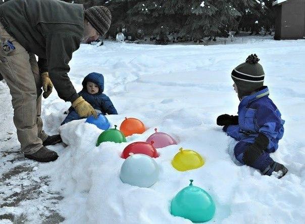 Зимнее развлечение и декор для двора: