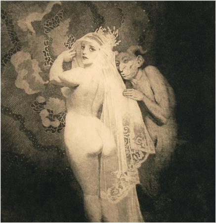 Прелестные нимфы, козлоногие обольстители и демоны в картинах Нормана Линдсея 37