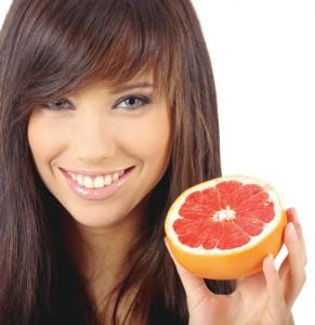 Маска для лица из грейпфрута