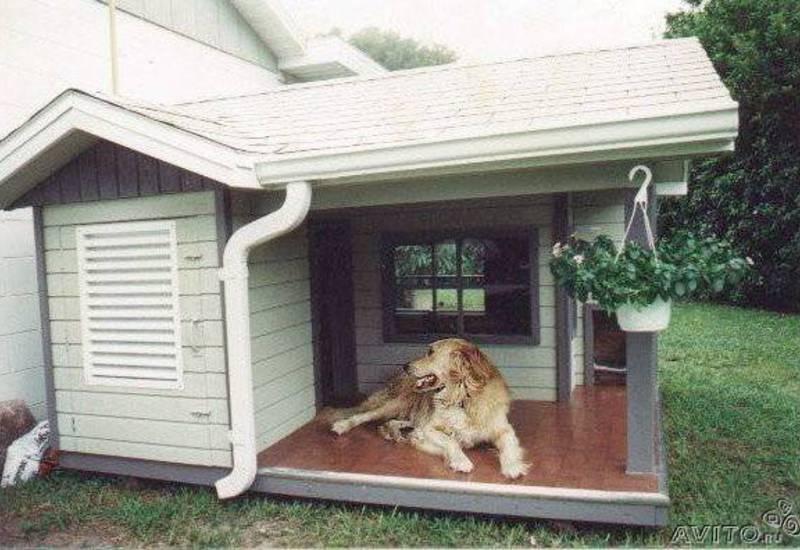 Будка конура для собаки — своими руками