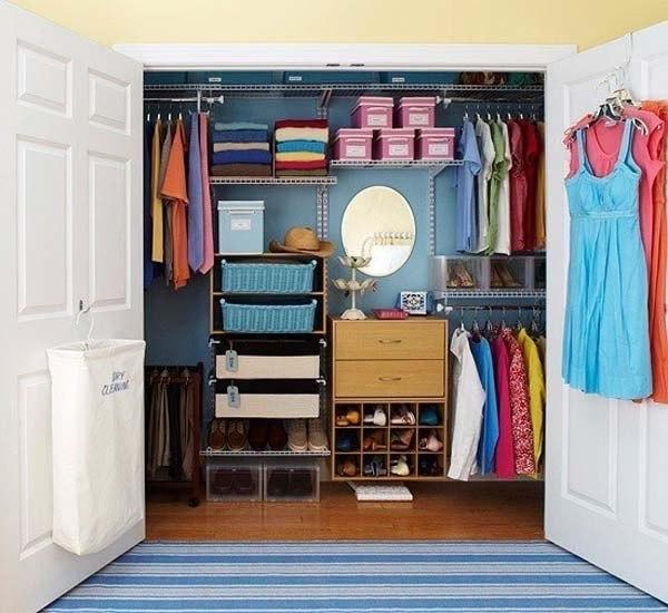 Наполнение шкафа-купе: как рационально использовать место.