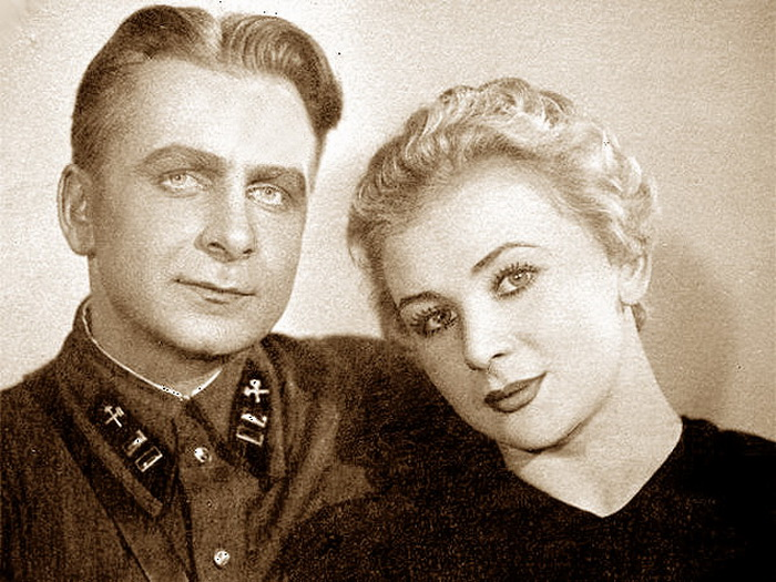 Валентина Серова с мужем Анатолием Серовым