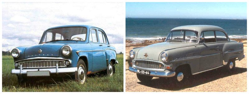 Москвич-402(1956-1964)-Opel Olympia Rekord(1947-1953) автомобили, история, ссср, факты