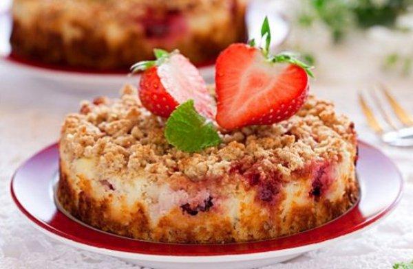 Пирог с творогом и ягодами замороженными рецепт с пошагово