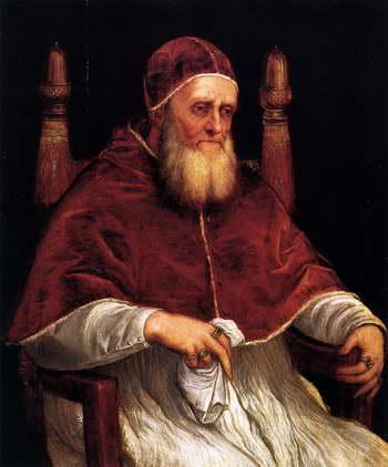 Тициан. Портрет папы Юлия II