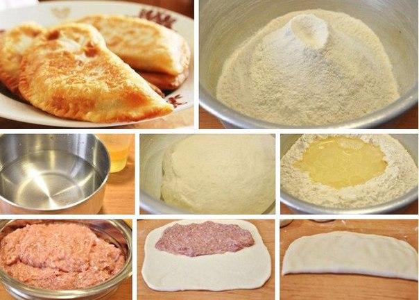 Как сделать тесто для чебуреков в домашних условиях рецепт