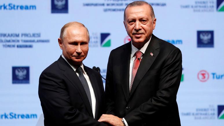Deutschlandfunk: Запад наблюдает за сближением России и Турции с нарастающим беспокойством