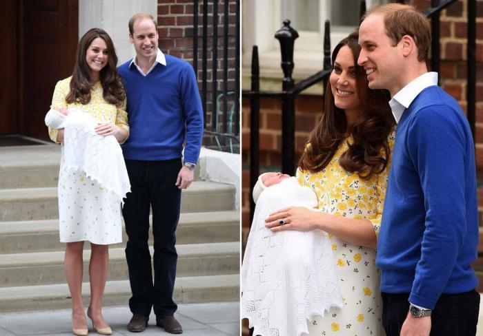 Кейт Миддлтон появилась на публике после родов в платье с нежным цветочным принтом от британского бренда «Jenny Packham».