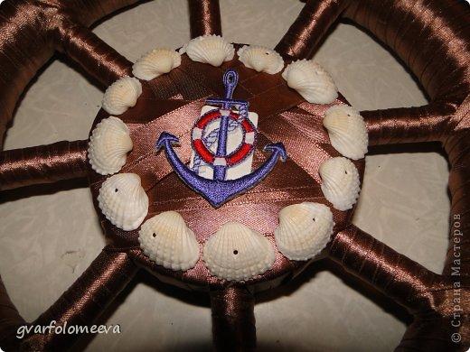 Мастер-класс Поделка изделие 23 февраля Моделирование конструирование Штурвал МК Клей Ленты Ракушки фото 20