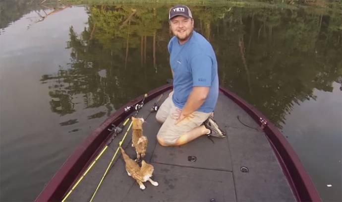 Пошли на рыбалку, а выловили...двух котят!!