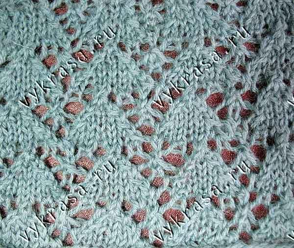 Фото узора для вязания сердечки