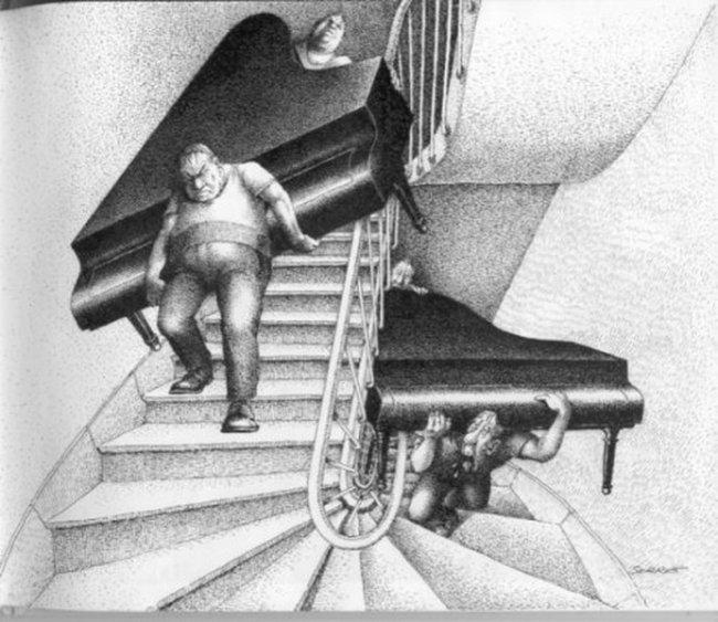 О перемещении роялей