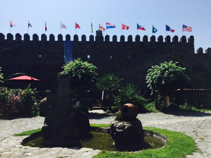 Двор завода Киндзмараули, вино, грузия, факты