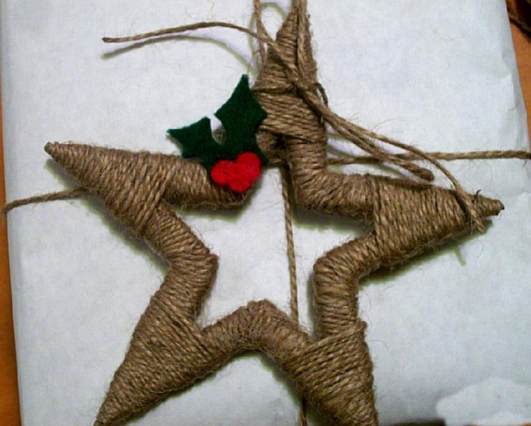 Новогодние вещицы из джута и мешковины