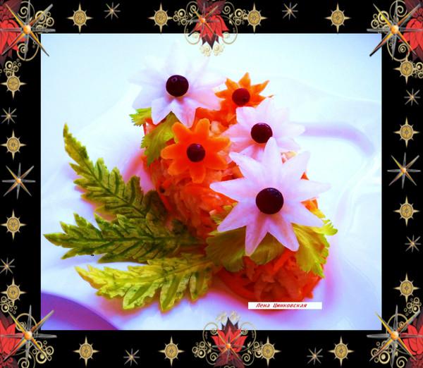 Салат из моркови и редьки с яблоками