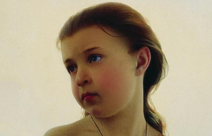 Фрагмент портрета Натальи Зарянко, дочери художника