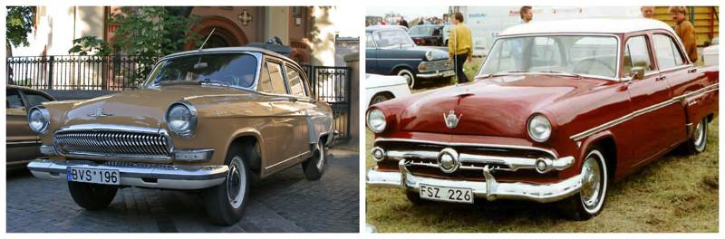 ГАЗ-21 (1956-1972)-Ford Mainline (1952-1956) автомобили, история, ссср, факты