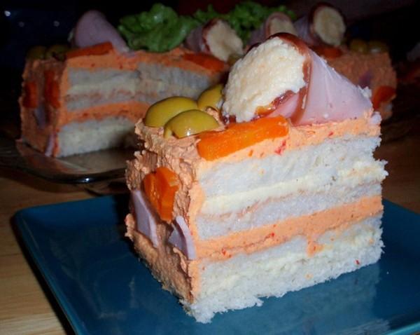 Бутербродные торты. Топ — 12 рецептов