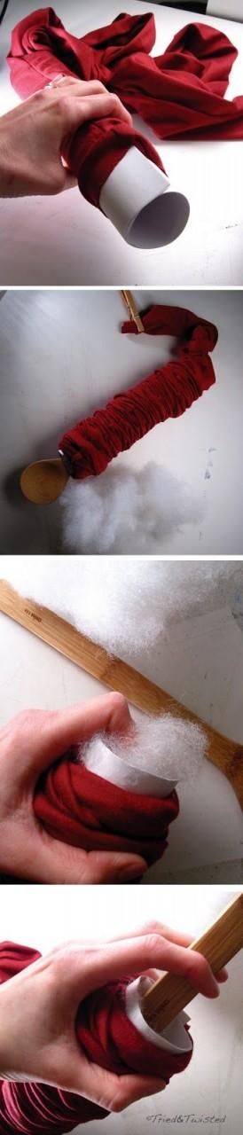 как сшить основу-трубку для подушки-узла
