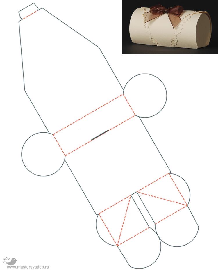Шаблоны для бонбоньерки своими руками 138