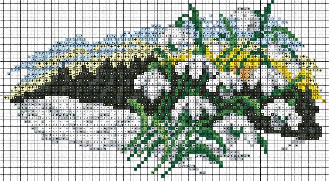 природа(вышивка)цветочный календарь