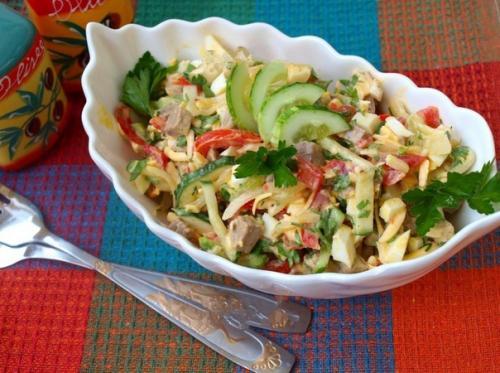 Салат «Бахор». Предлагаю вам рецепт вкусного, освежающего салата «Бахор» из узбекской кухни.