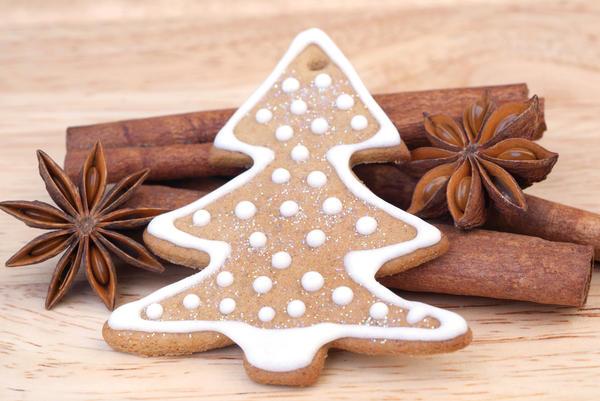 Песочное печенье Елочки