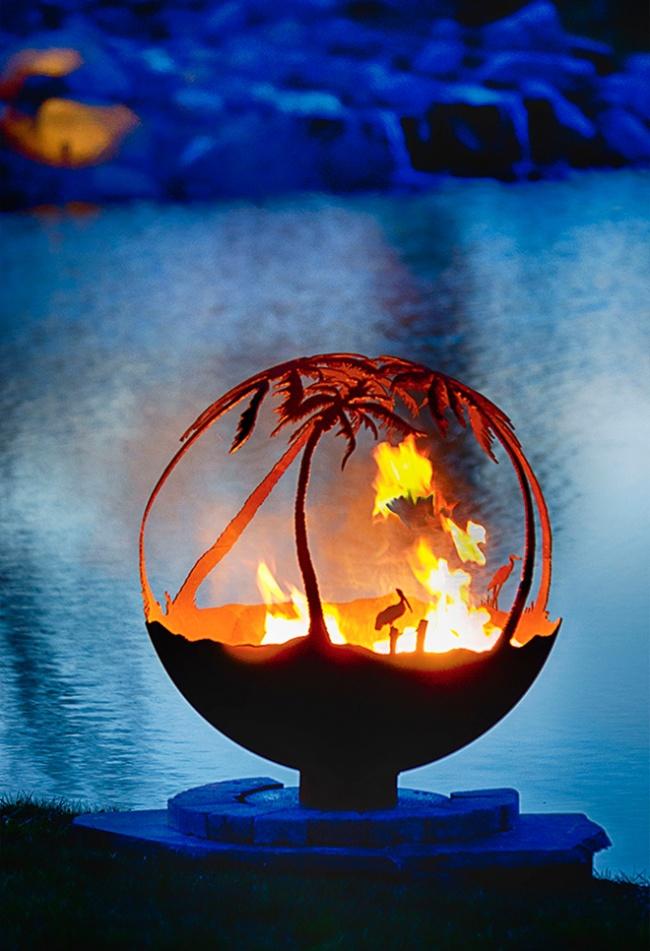 Огненной шар своими руками фото