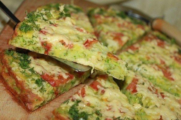 Три рецепта низкокалорийной пиццы из кабачков