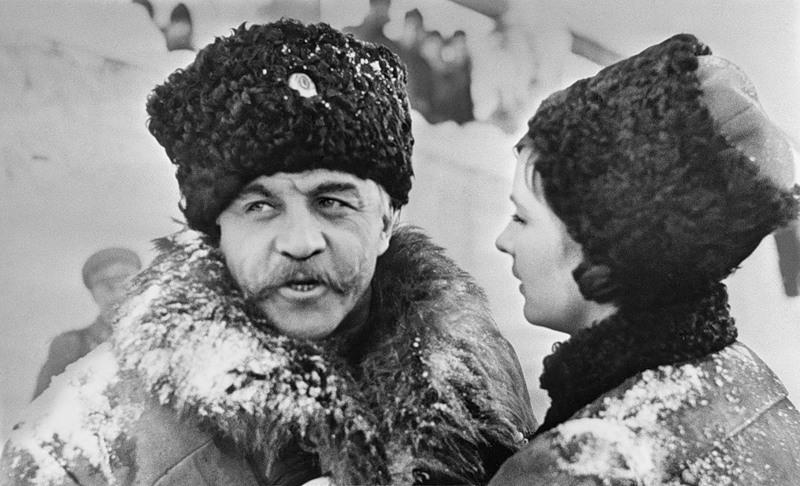 Фотопробы В. Высоцкого и В. Невинного на роль генерала Чартноты